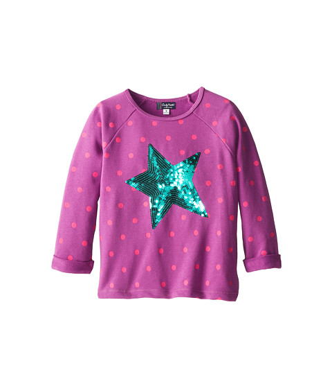Candy Hearts Kids - Sequin Star Dot Print Popover (Big Kids) (Hyacinth Violet) Girl