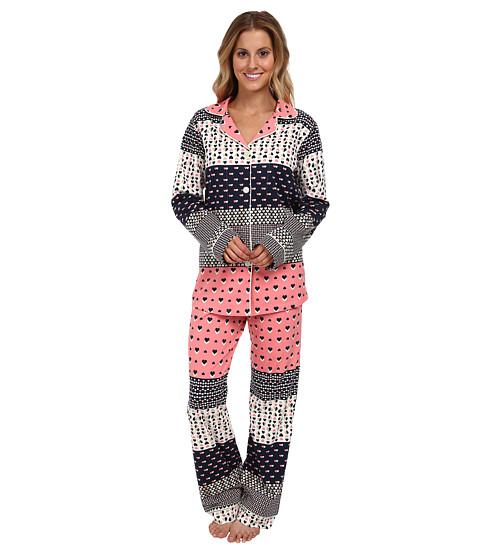 BedHead Classic Stretch PJ (Pink Hearts Galore) Women's Pajama Sets