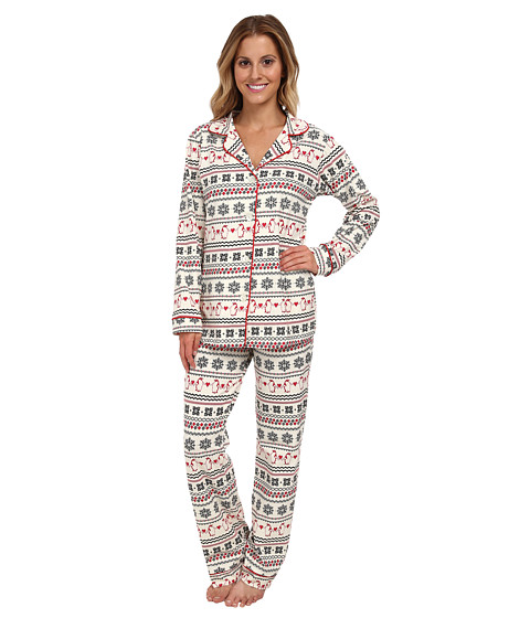 BedHead - Classic Stretch PJ (Ivory Penguin Fair Isle) Women