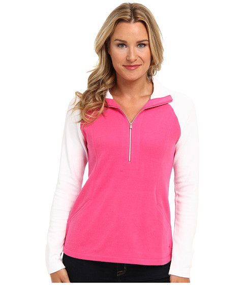 Tommy Bahama - Lightweight Aruba Color Block (Tickled Pink/White) Women