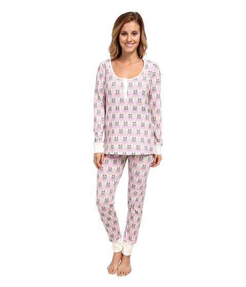 BedHead - Henley PJ Set (Pink Barn Owl) Women's Pajama Sets