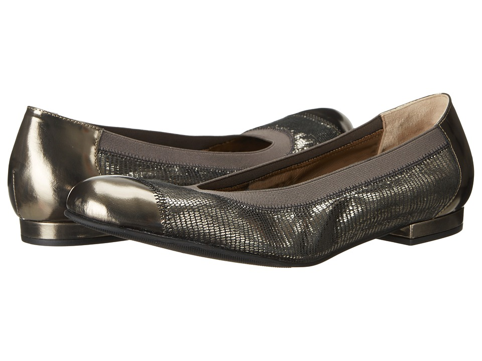Anyi Lu Cate (Lead Mirror/Pewter Metallic Lizard) Women