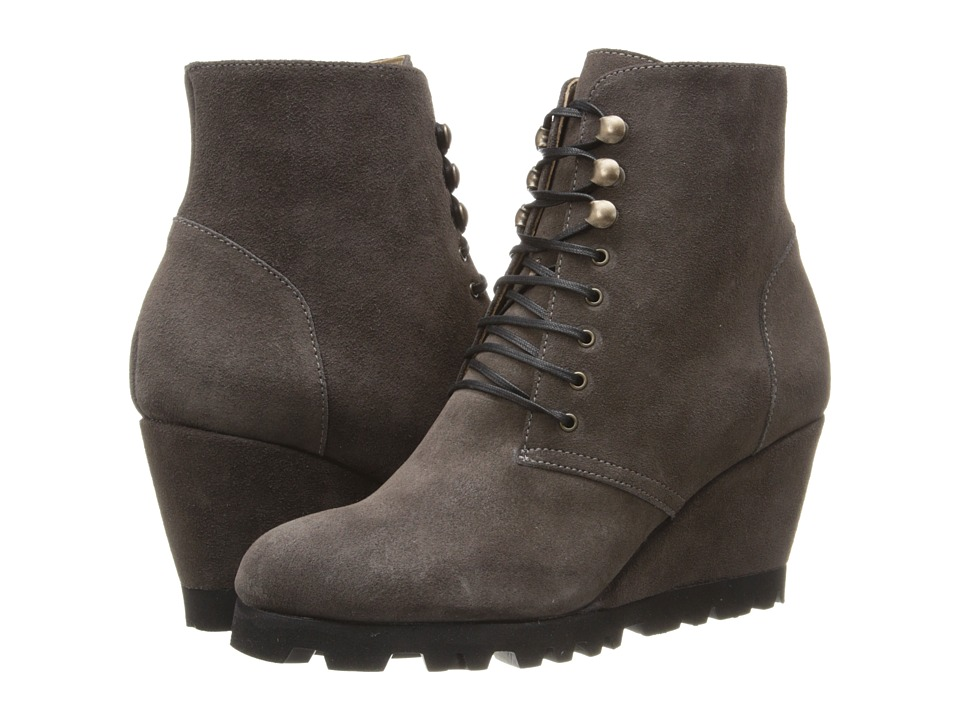 Anyi Lu - Fiona (Graphite Suede) Women's Zip Boots