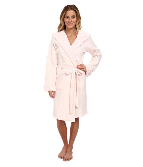 BedHead - Short Hooded Robe (Pink Poly Fleece) Women's Robe