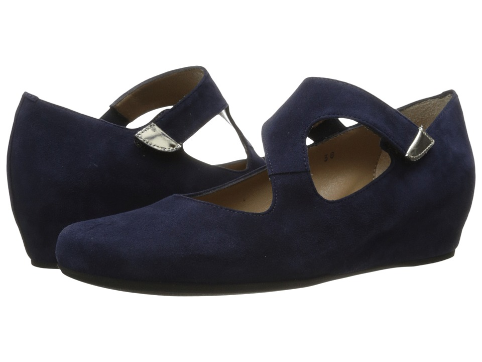 Image of Anyi Lu - Shirlee (Midnight Suede) Women's Wedge Shoes