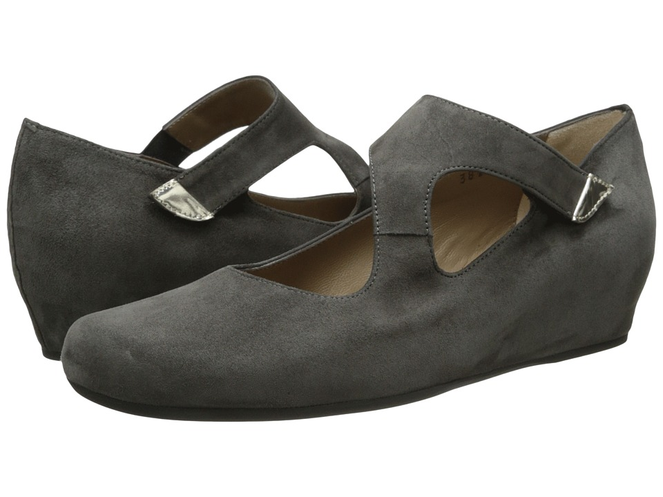 Image of Anyi Lu - Shirlee (Graphite Suede) Women's Wedge Shoes