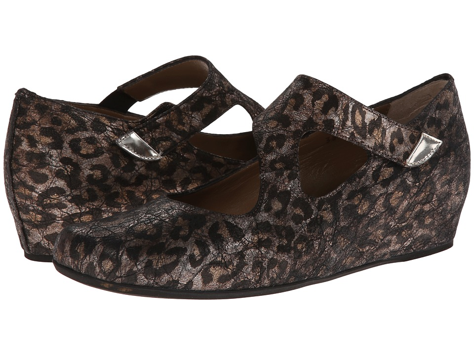 Image of Anyi Lu - Shirlee (Leopard Shimmer Suede) Women's Wedge Shoes