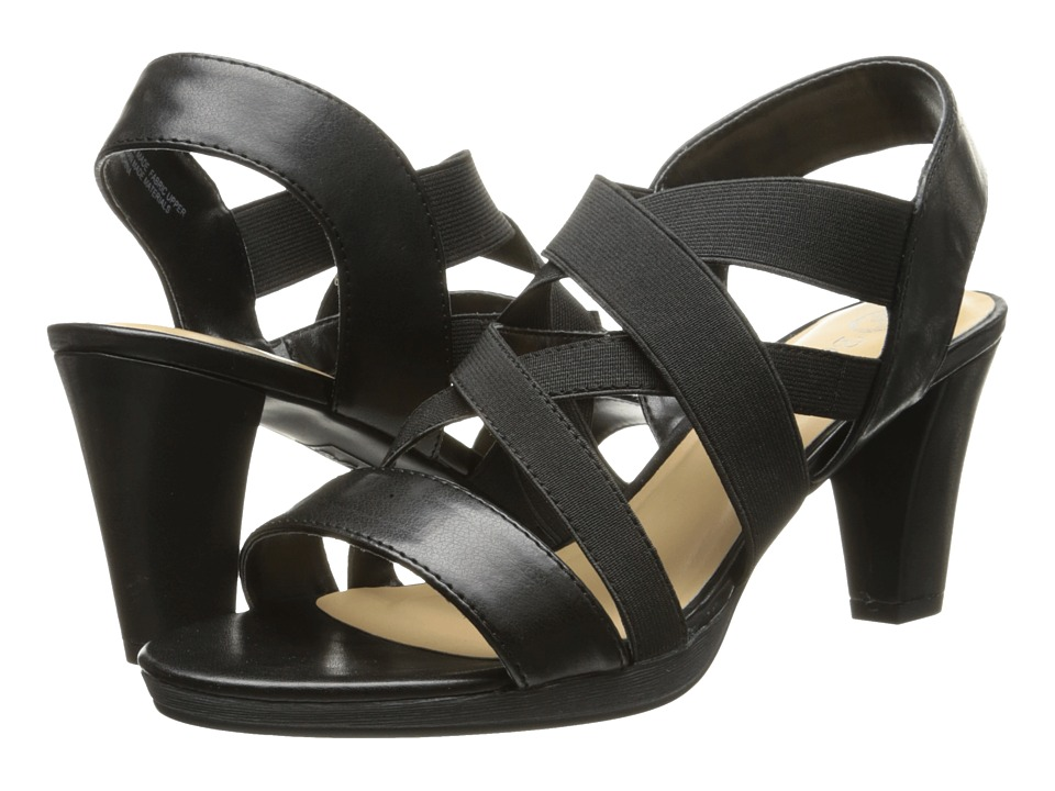 Bella-Vita - Leeza (Black/Stretch) Women's Sandals