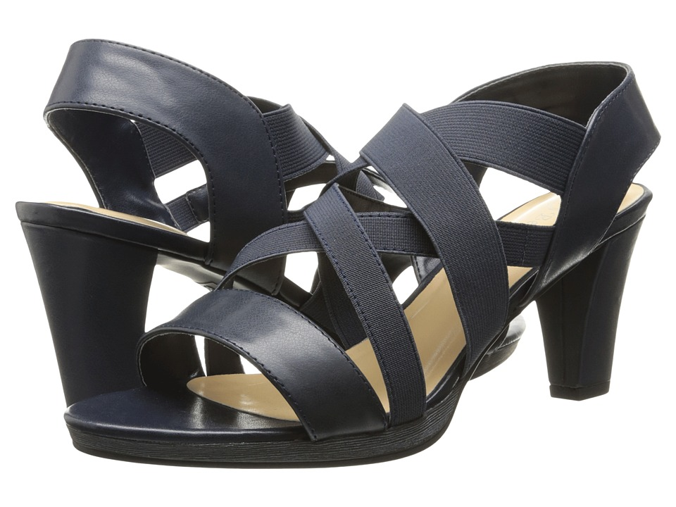 Bella-Vita - Leeza (Navy/Stretch) Women's Sandals