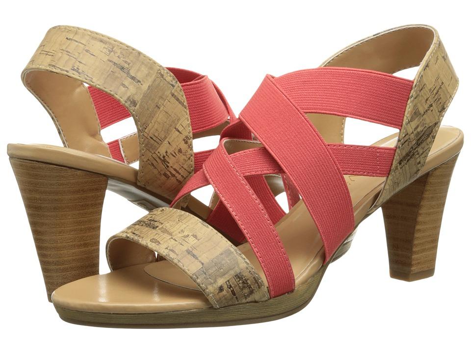Bella-Vita - Leeza (Cork/Coral Stretch) Women's Sandals
