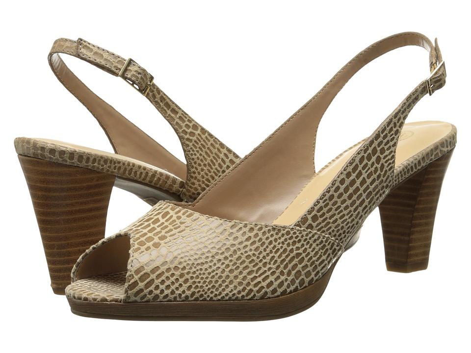 Bella-Vita - Liset (Tan Reptile) Women's Sandals