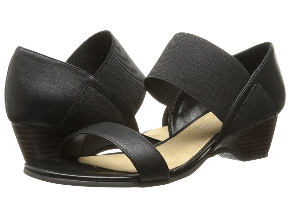 Bella-Vita - Palmer (Black w/ Black Gore) Women's Sandals