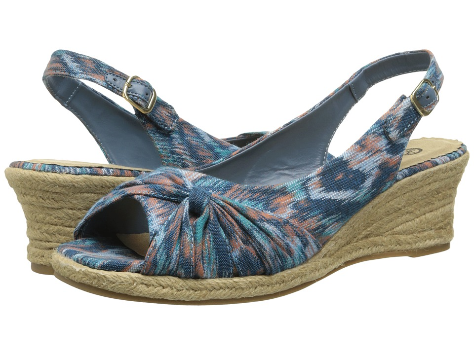 Bella-Vita - Sangria Too (Blue Multi 1) Women's Wedge Shoes