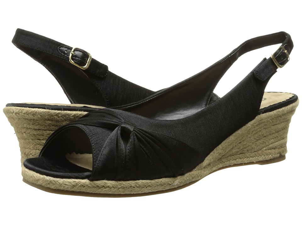 Bella-Vita - Sangria Too (Black Silk 1) Women's Wedge Shoes