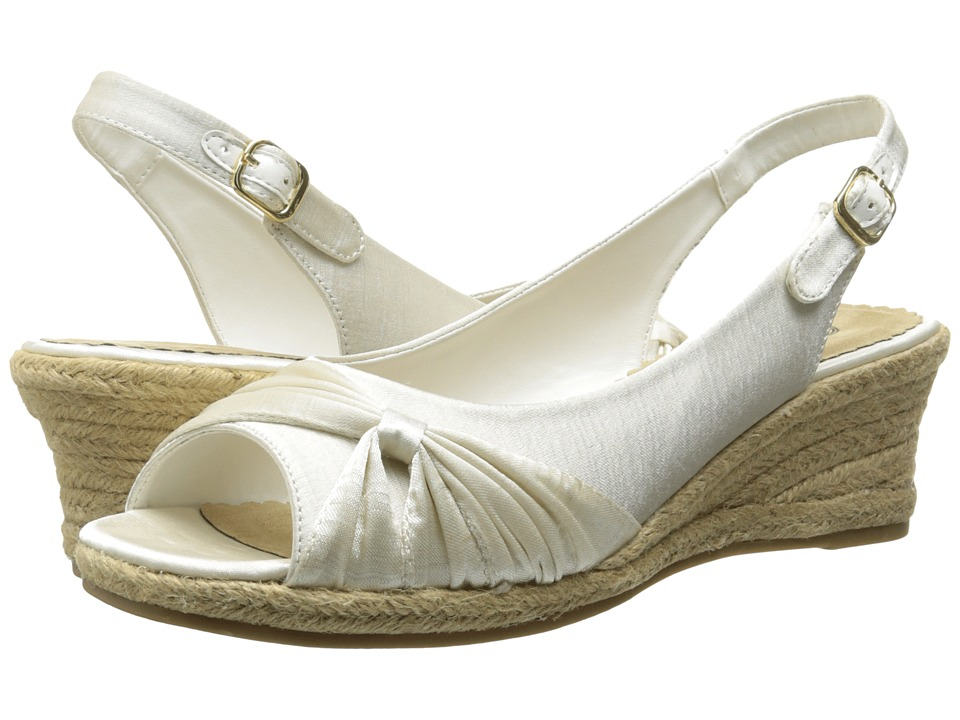 Bella-Vita - Sangria Too (White Silk) Women's Wedge Shoes