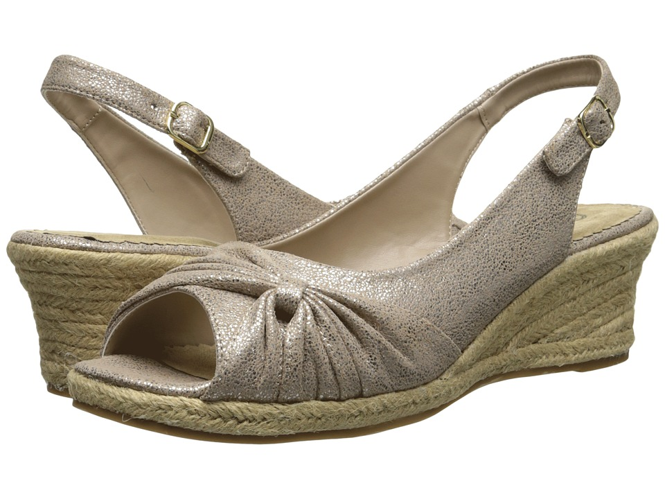 Bella-Vita - Sangria Too (Taupe/Gold) Women's Wedge Shoes