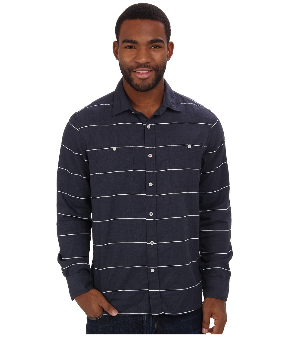 Howe - Ground Swell L/S Woven (Navy Blazer) Men's Long Sleeve Button Up