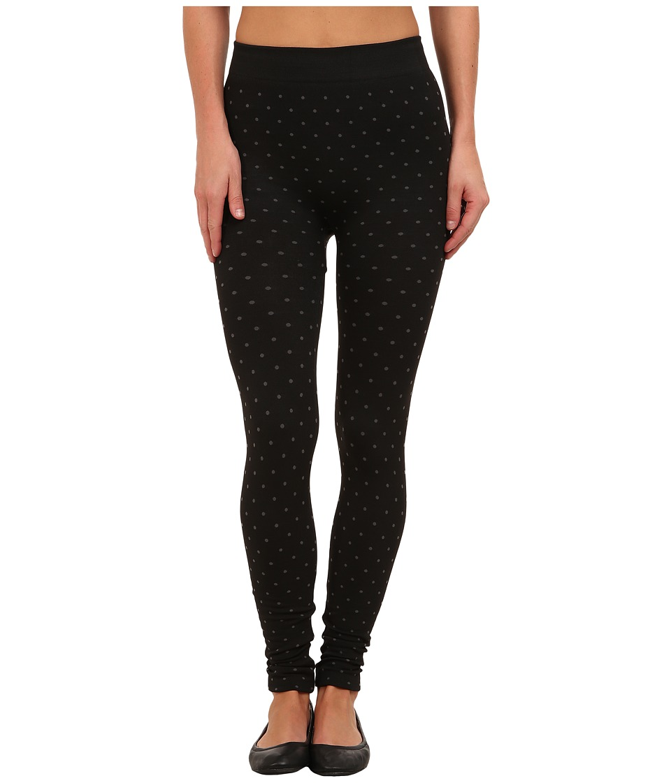 Steve Madden - Fleece Lined Polka Dot Legging (Black) Women's Clothing