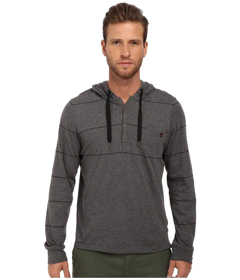 Howe - Long Shoreman Stripe Light Hoodie (Cast Iron) Men's Sweatshirt