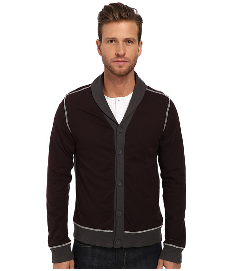 Howe - Radio Rage Cardigan (Baked Eggplant) Men's Sweater
