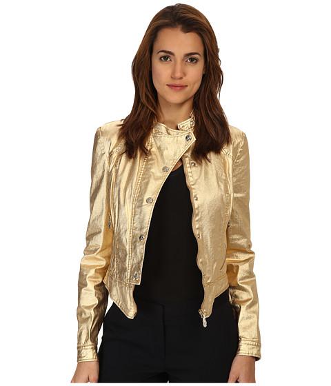 Versace Jeans - Gold Coated Denim Jacket (Oro) Women