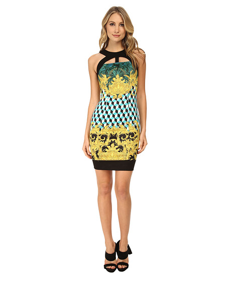 Versace Jeans - Graphic Print Sheath Dress (Turco) Women
