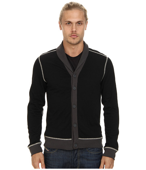 Howe - Radio Rage Cardigan (Black) Men's Sweater