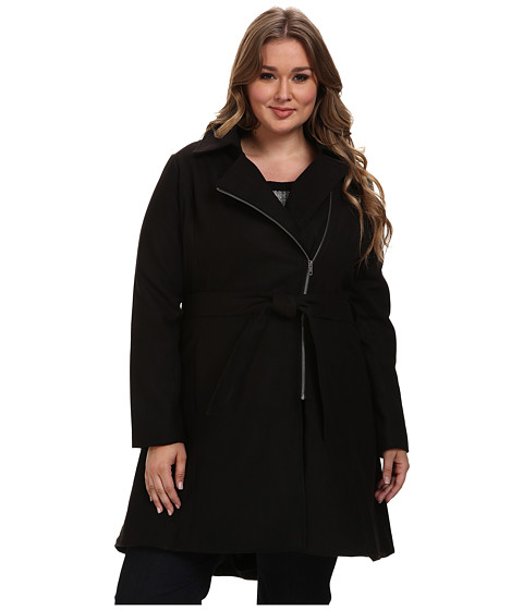 BB Dakota - Plus Size Lindi Outerwear (Black) Women's Coat