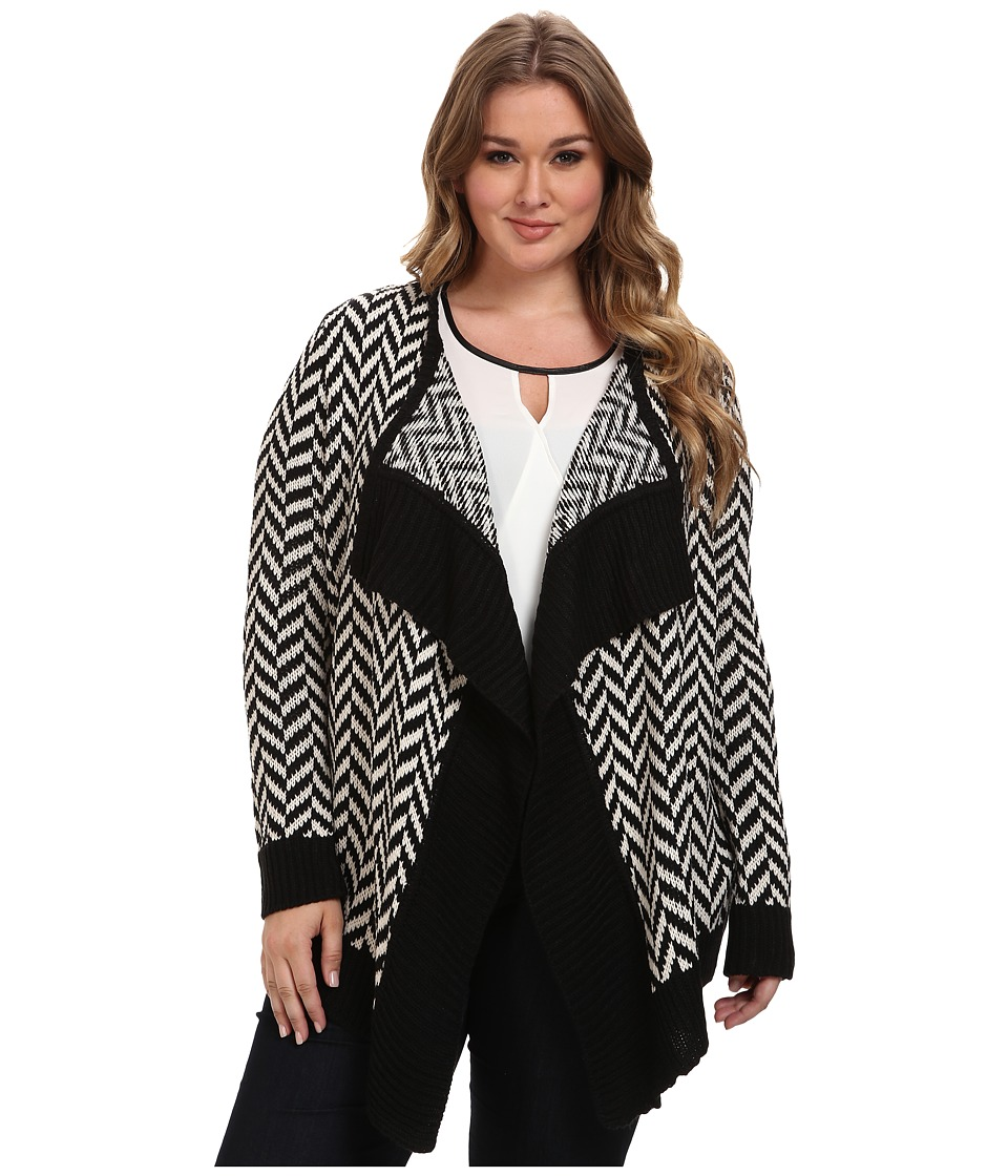 BB Dakota - Plus Size Cosima Sweaters (Black/Ivory) Women
