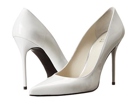 Stuart Weitzman - Nouveau (White Patent) High Heels