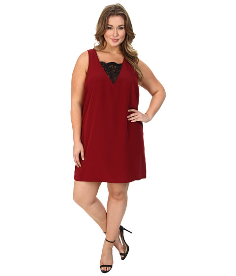 BB Dakota - Plus Size Marloes Dresses (Dark Rose) Women's Dress