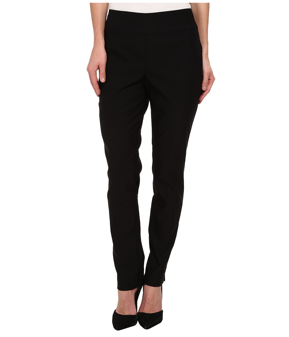 NIC+ZOE - Slim Wonderstretch Pants (Black Onyx) Women's Dress Pants