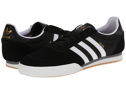adidas Skateboarding - Silas SLR (Core Black/White/Grey) Men's Skate Shoes