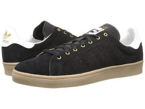 adidas Skateboarding - Stan Smith (Black/White/Gum) Men's Skate Shoes