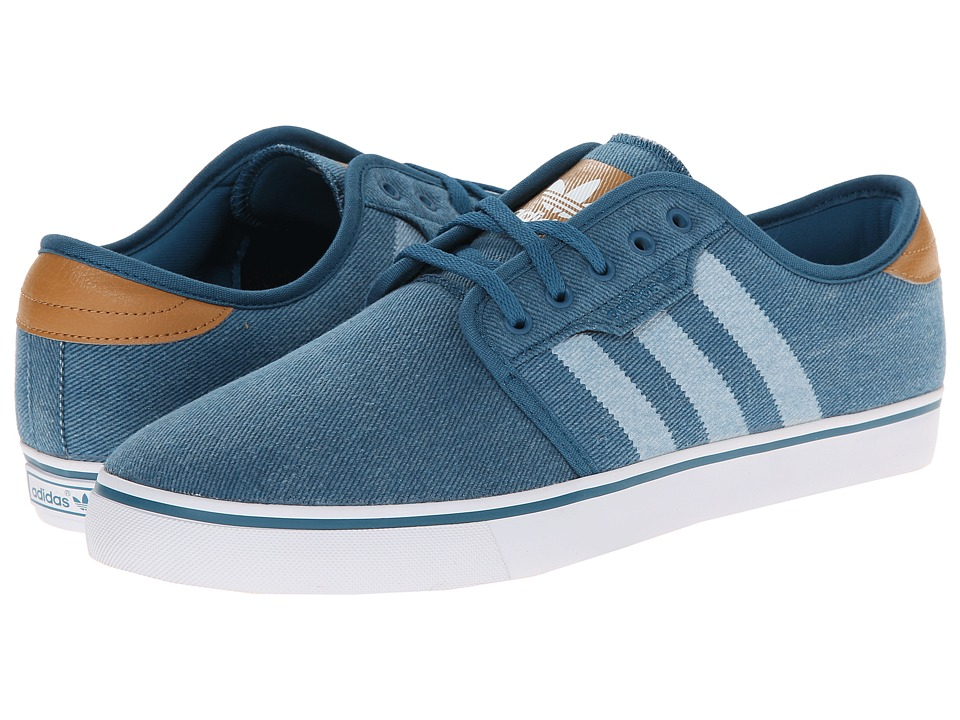 adidas Skateboarding - Seeley (Surf Petrol/Mesa/White) Men's Skate Shoes
