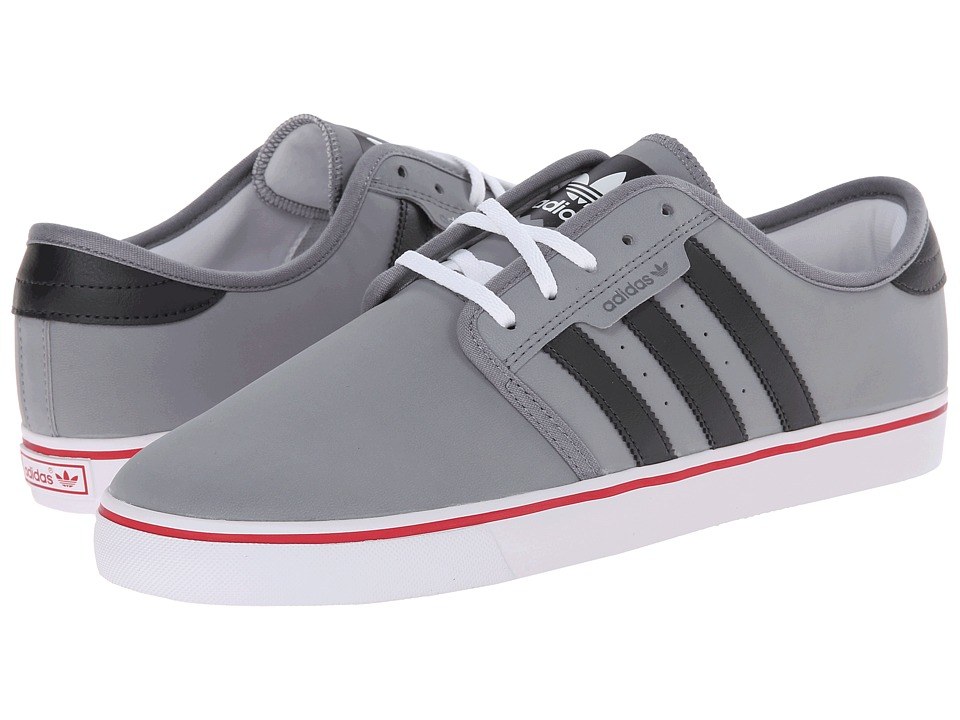 adidas Skateboarding - Seeley (Grey/Carbon/Power Red) Men's Skate Shoes