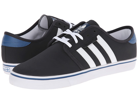 adidas Skateboarding - Seeley (Carbon/White/Ash Blue) Men's Skate Shoes