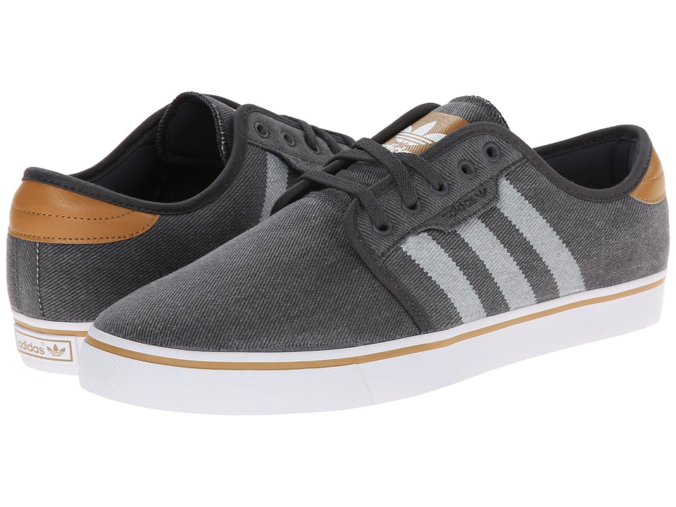 adidas Skateboarding - Seeley (Solid Grey/Mesa/White) Men's Skate Shoes
