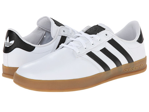 adidas Skateboarding - Seeley Cup (Whtie/Black/Gum) Men's Skate Shoes