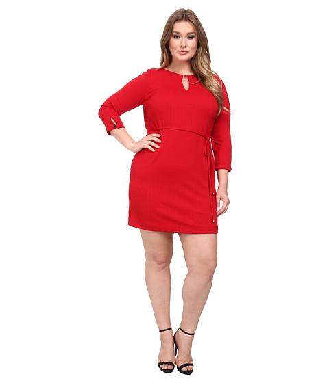 Tahari by ASL Plus - Plus Size Lester Dress (Lipstick) Women