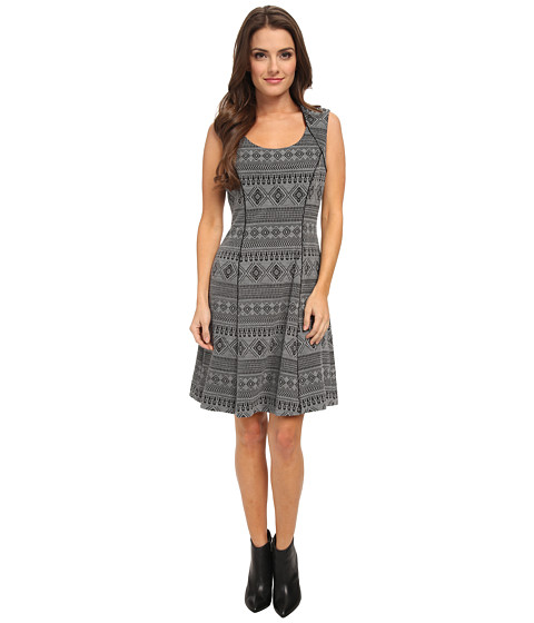 Tahari by ASL Petite - Petite Holianna (Grey/Black) Women's Dress