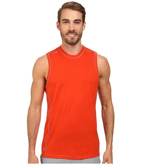 Smartwool - PhD Ultra Light Sleeveless (Bright Orange) Men