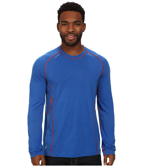 Smartwool - PhD Ultra Light Long Sleeve Pullover (Bright Blue) Men