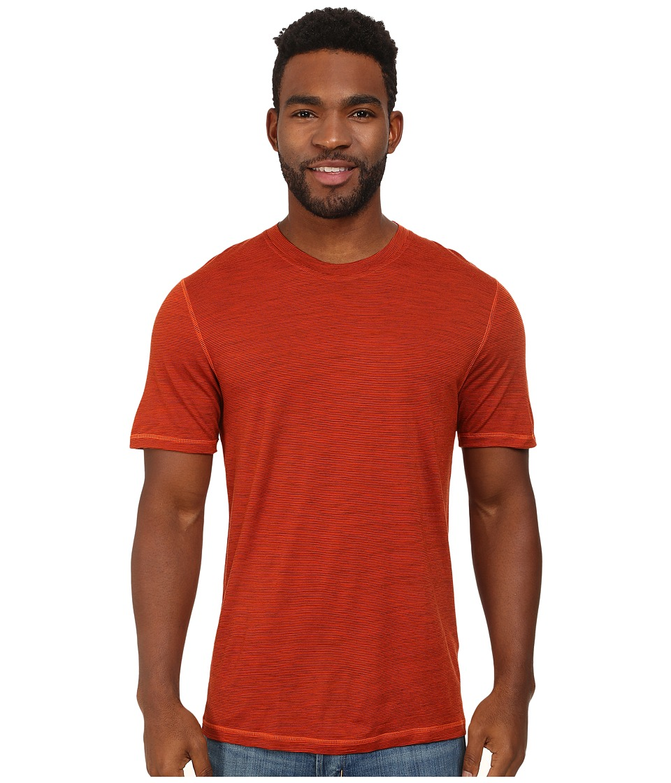Smartwool - NTS Micro 150 Pattern Tee (Bright Orange) Men