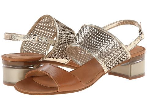 Sesto Meucci - Amelia (Platino Metallic Nappa/Cuoio Va/Beige Mesh) Women's 1-2 inch heel Shoes