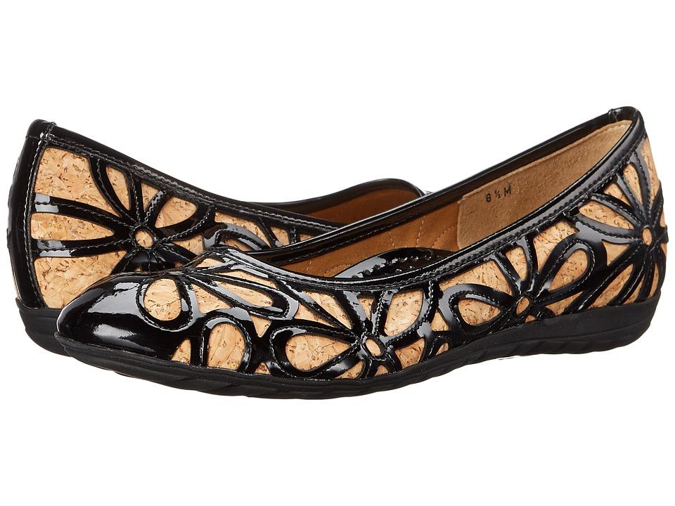 Sesto Meucci - Bruny (Natural Cork/Black Super Patent) Women's Dress Flat Shoes