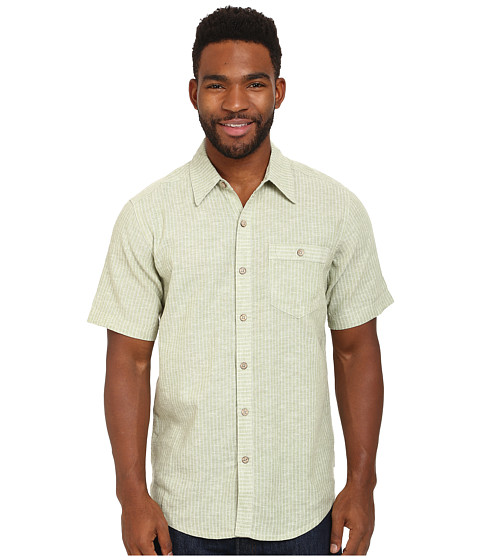 Royal Robbins - Trolley Stripe S/S (Artichoke) Men's Short Sleeve Button Up