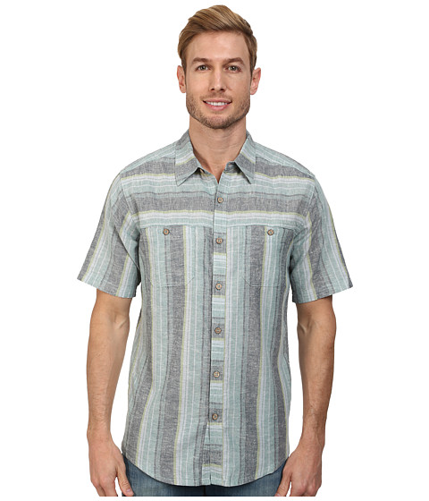 Royal Robbins - Adrift Stripe S/S (Night Sky) Men's Short Sleeve Button Up