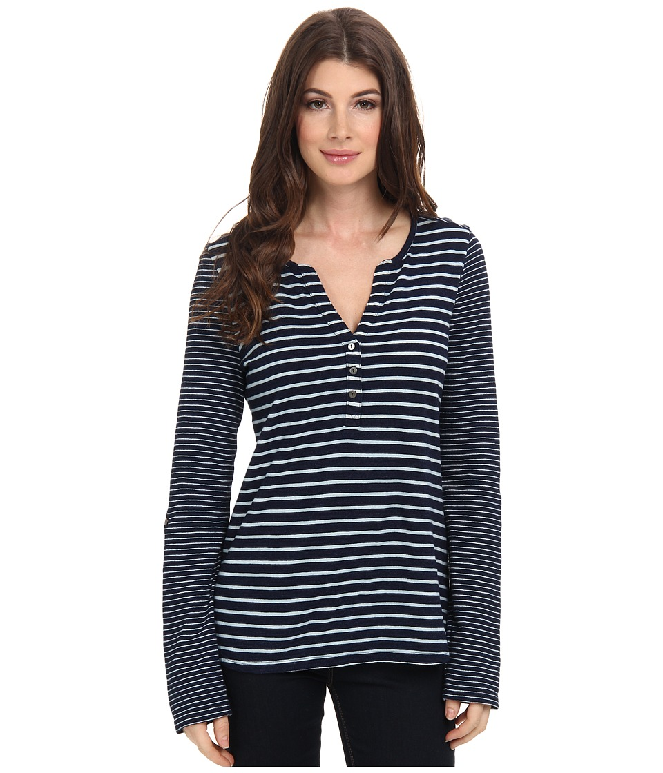 NYDJ - Stripe Mix Henley (Indigo) Women