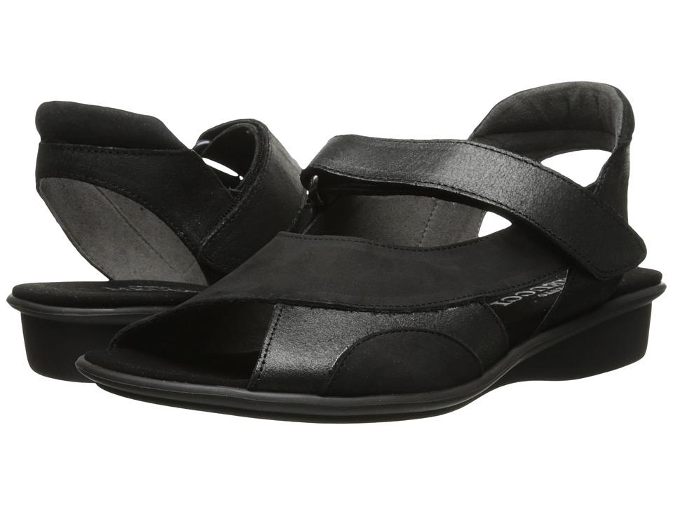 Sesto Meucci - Edrea (Black Nabuk/Black Natan Met) Women's Sandals